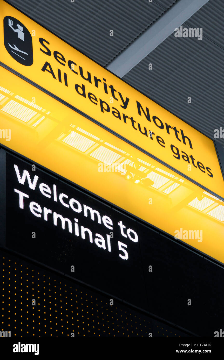London Heathrow Terminal 5 - Stock Image