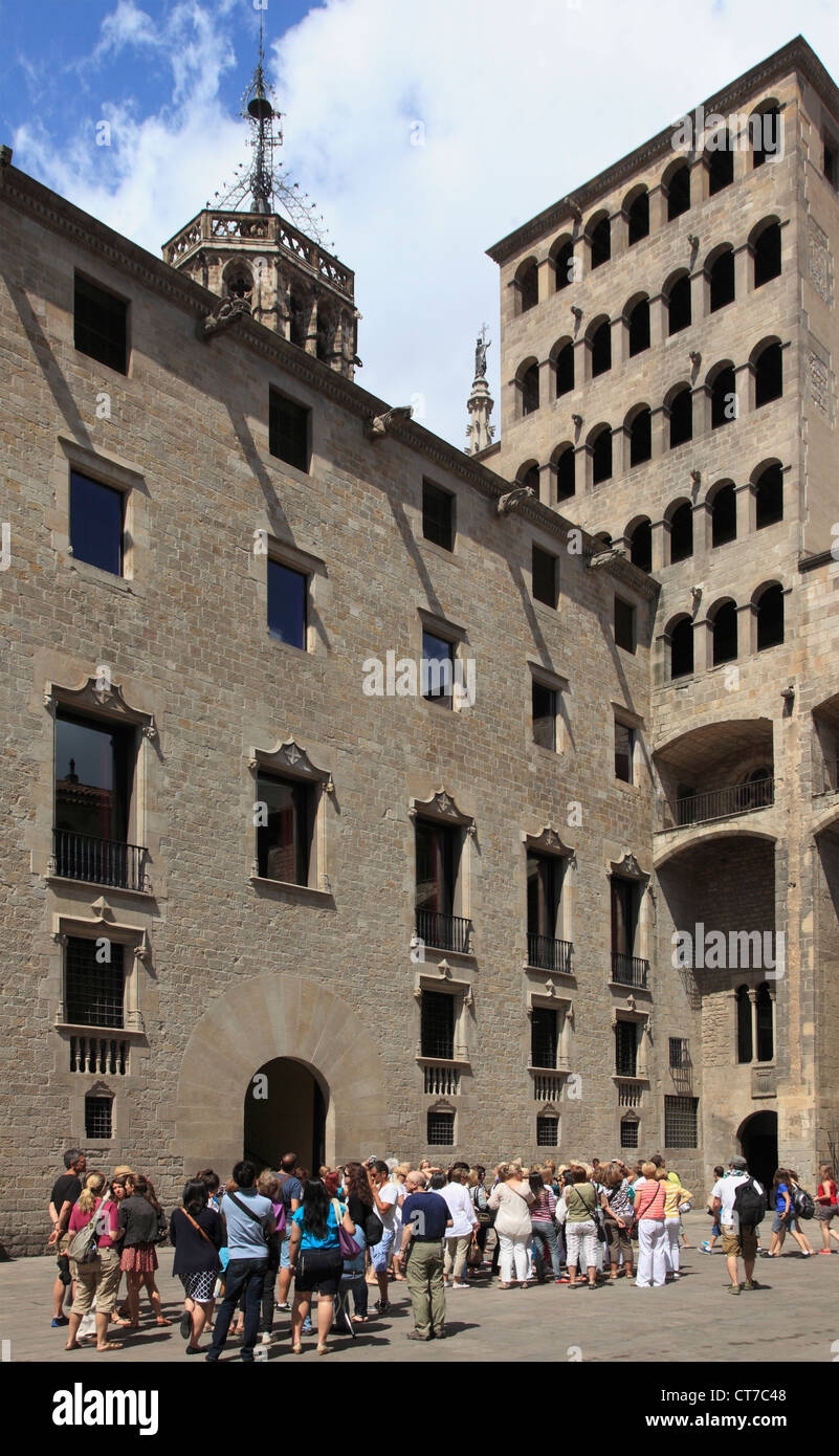 Spain, Catalonia, Barcelona, Barri Gotic, Placa del Rei, - Stock Image