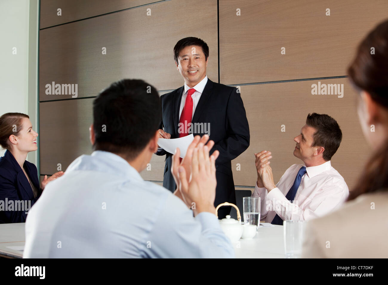 Multi racial business meeting - Stock Image