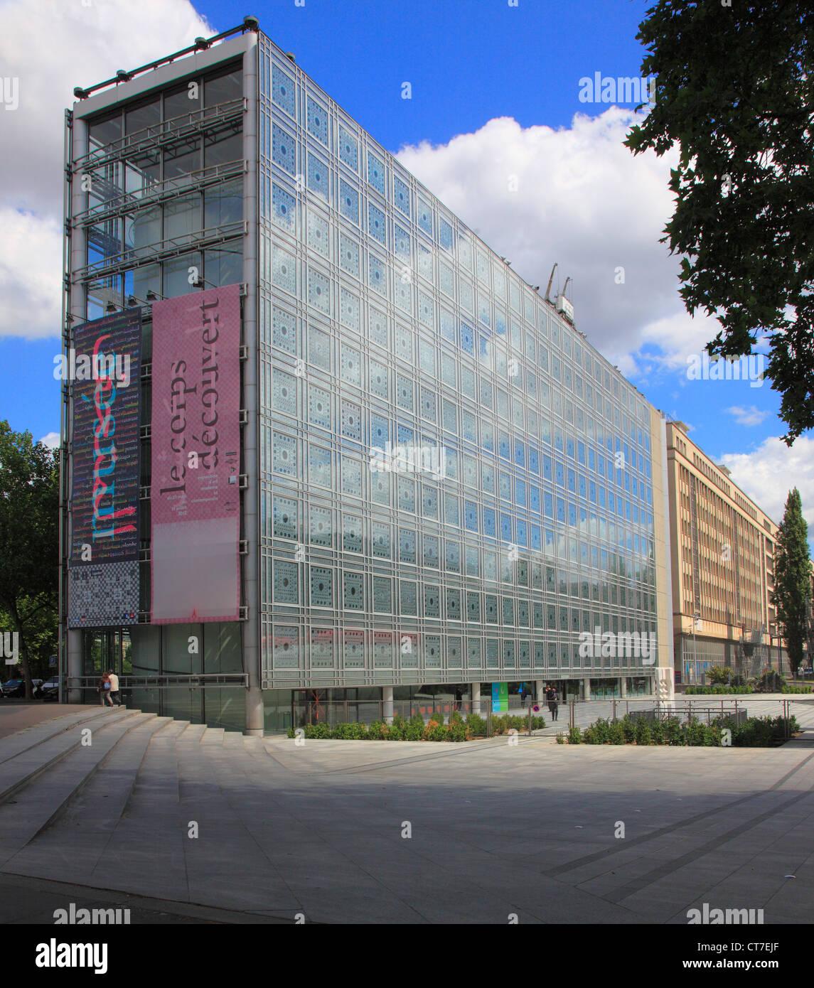 France, Paris, Institut du Monde Arabe, - Stock Image