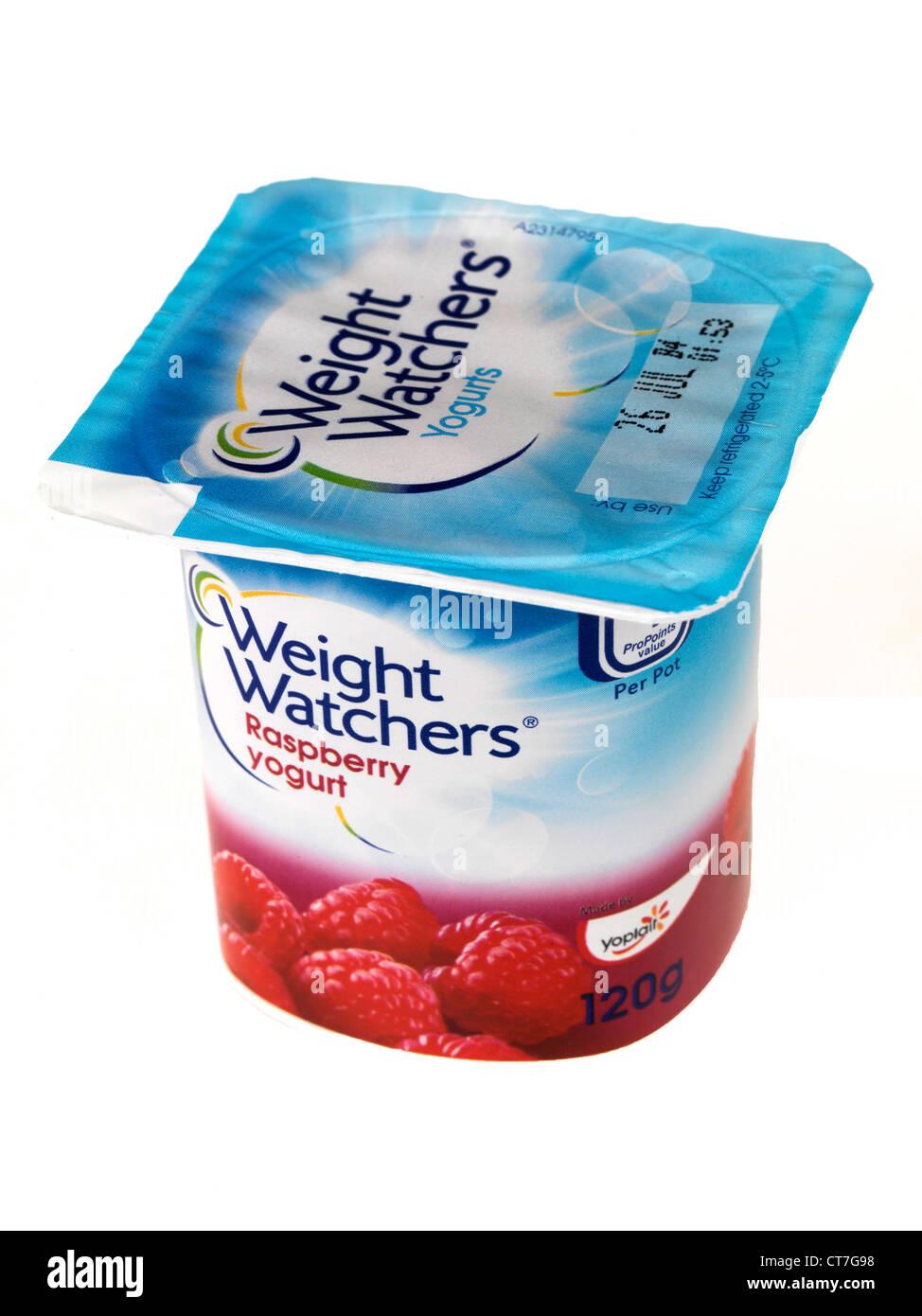 Weight Watchers Raspberry Yogurt - Stock Image