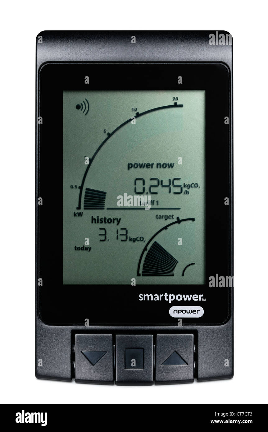 Energy Monitor - Stock Image