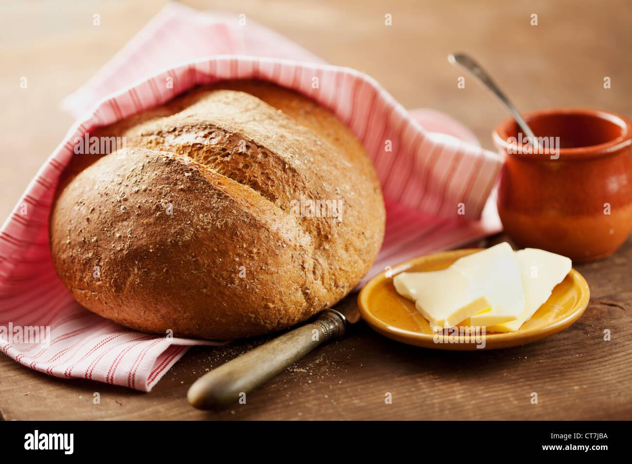 wholegrain bread Stock Photo