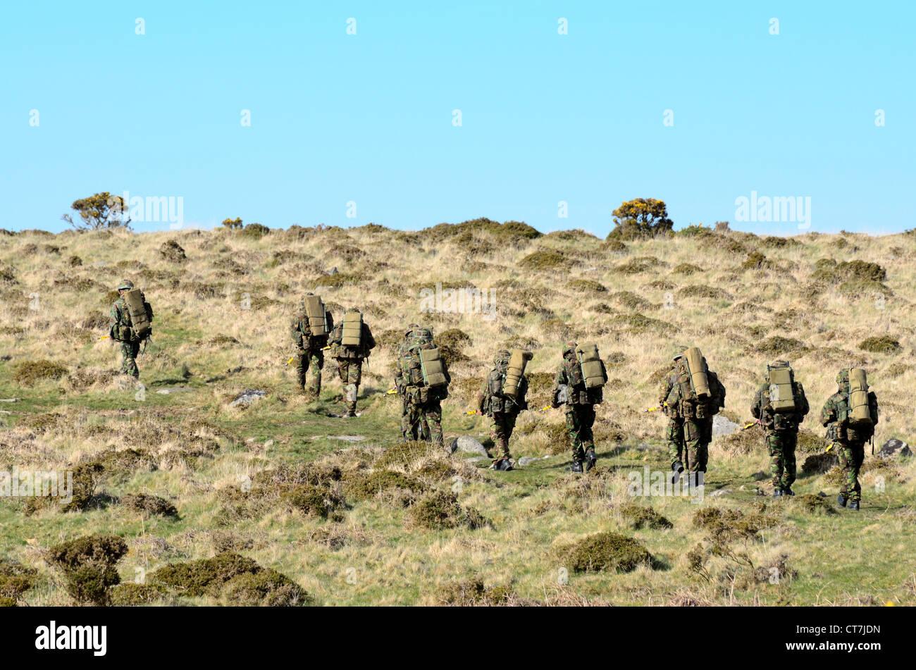 The Army training on Dartmoor - Stock Image