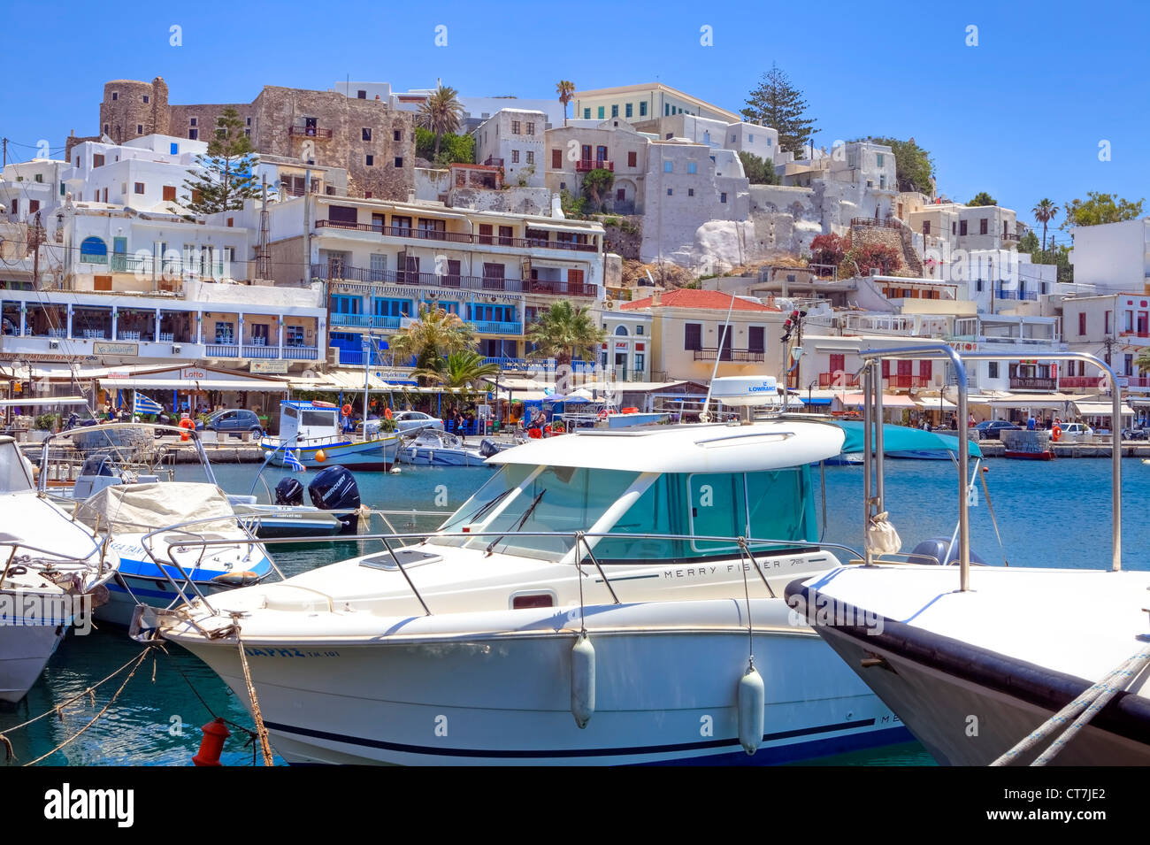 Chora of Naxos, Greece - Stock Image