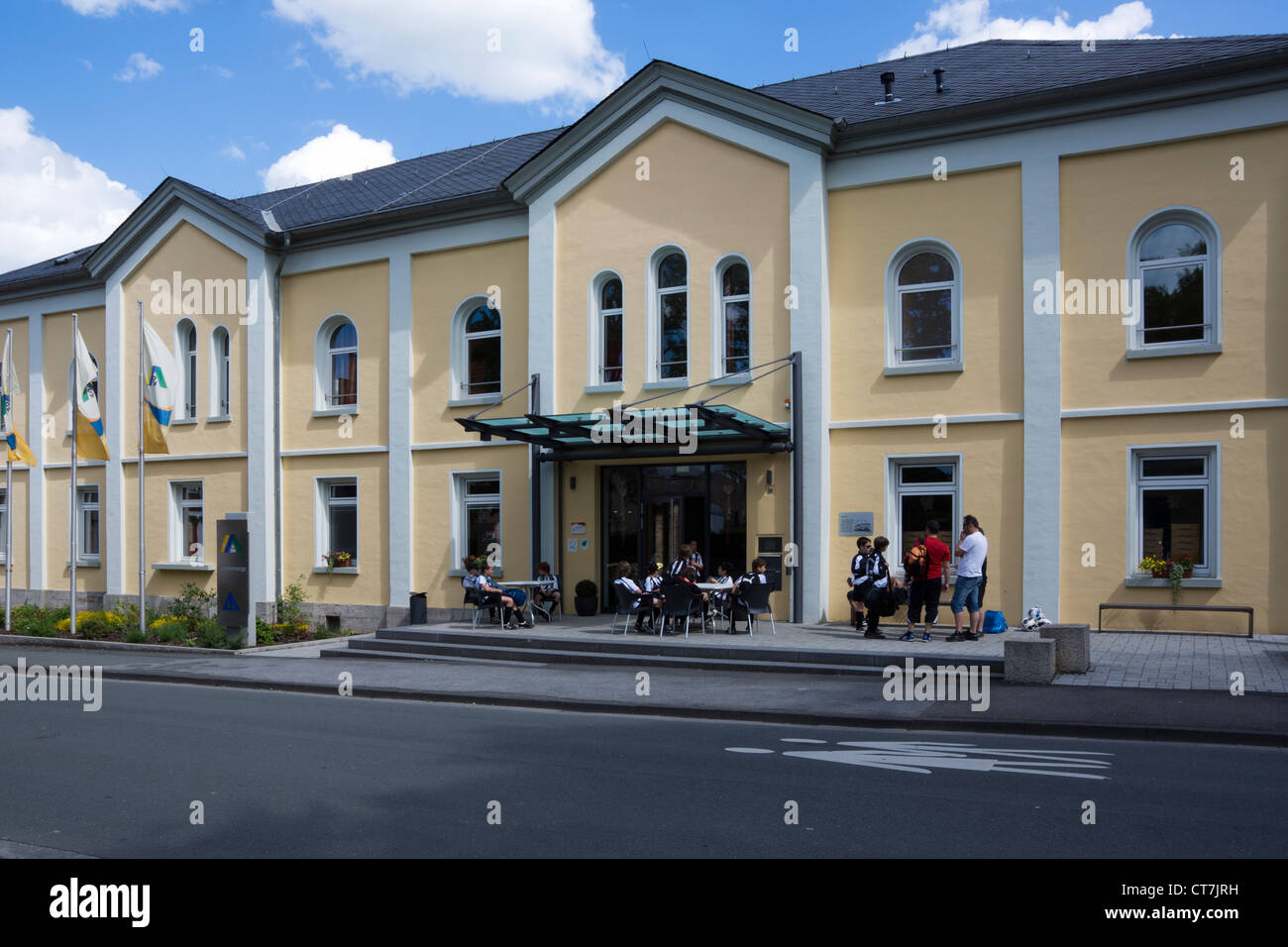 Youth hostel, Korbach, district  Waldeck-Frankenberg, Hesse, Germany, Europe - Stock Image