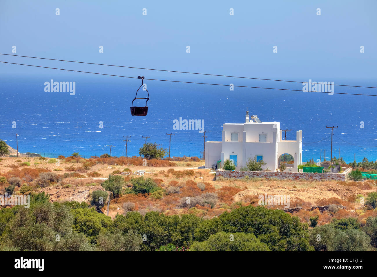 old Lore of the emery extraction at Moutsouna, Naxos, Greece - Stock Image
