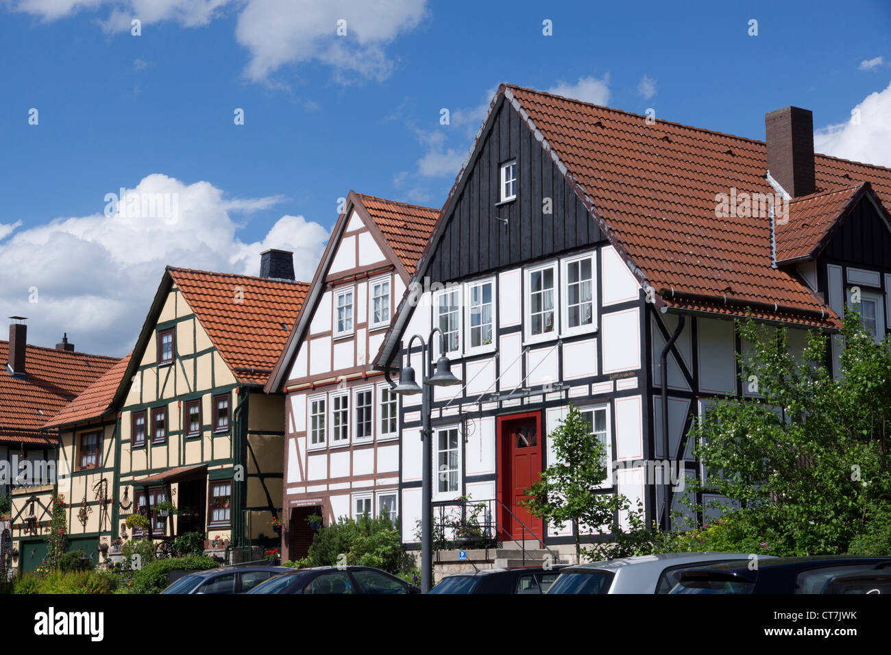 Half-timbered houses,  Korbach, district  Waldeck-Frankenberg, Hesse, Germany, Europe - Stock Image