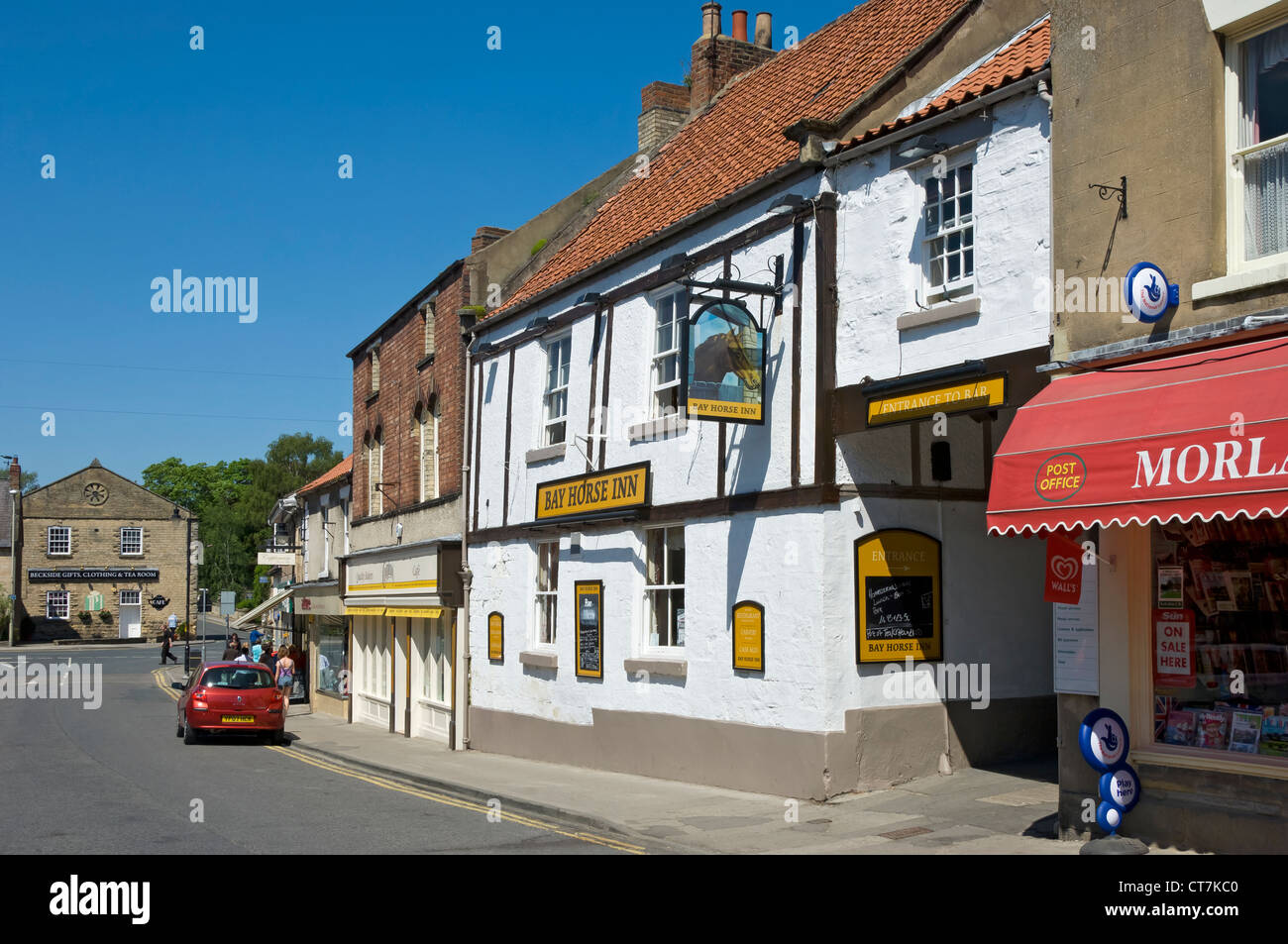 Bay Horse Inn Market Place Pickering North Yorkshire England UK United Kingdom GB Great Britain - Stock Image