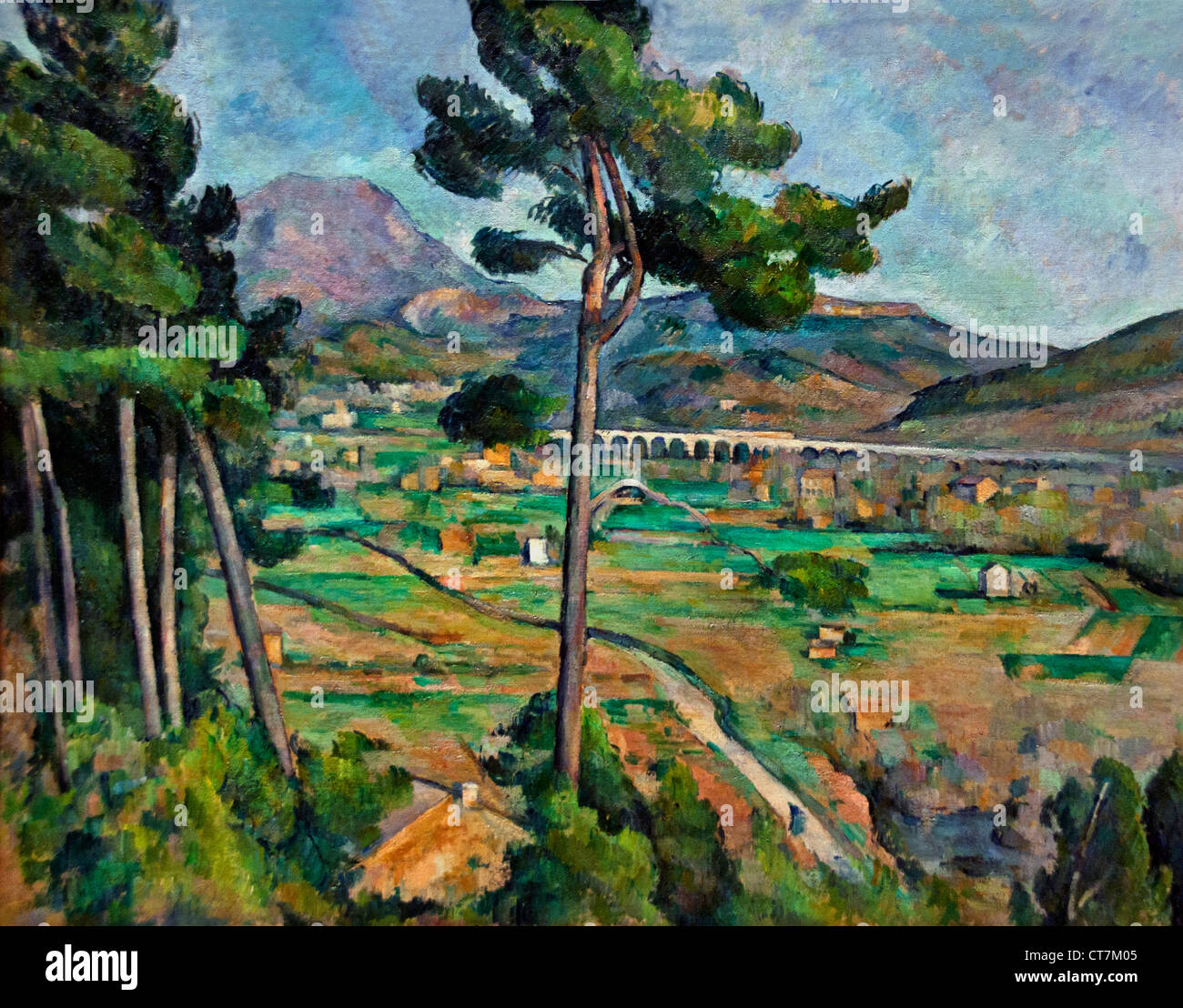 Mont Sainte Victoire and the Viaduct of the Arc River Valley 1882 Paul Cézanne 1839 – 1906 France French Stock Photo
