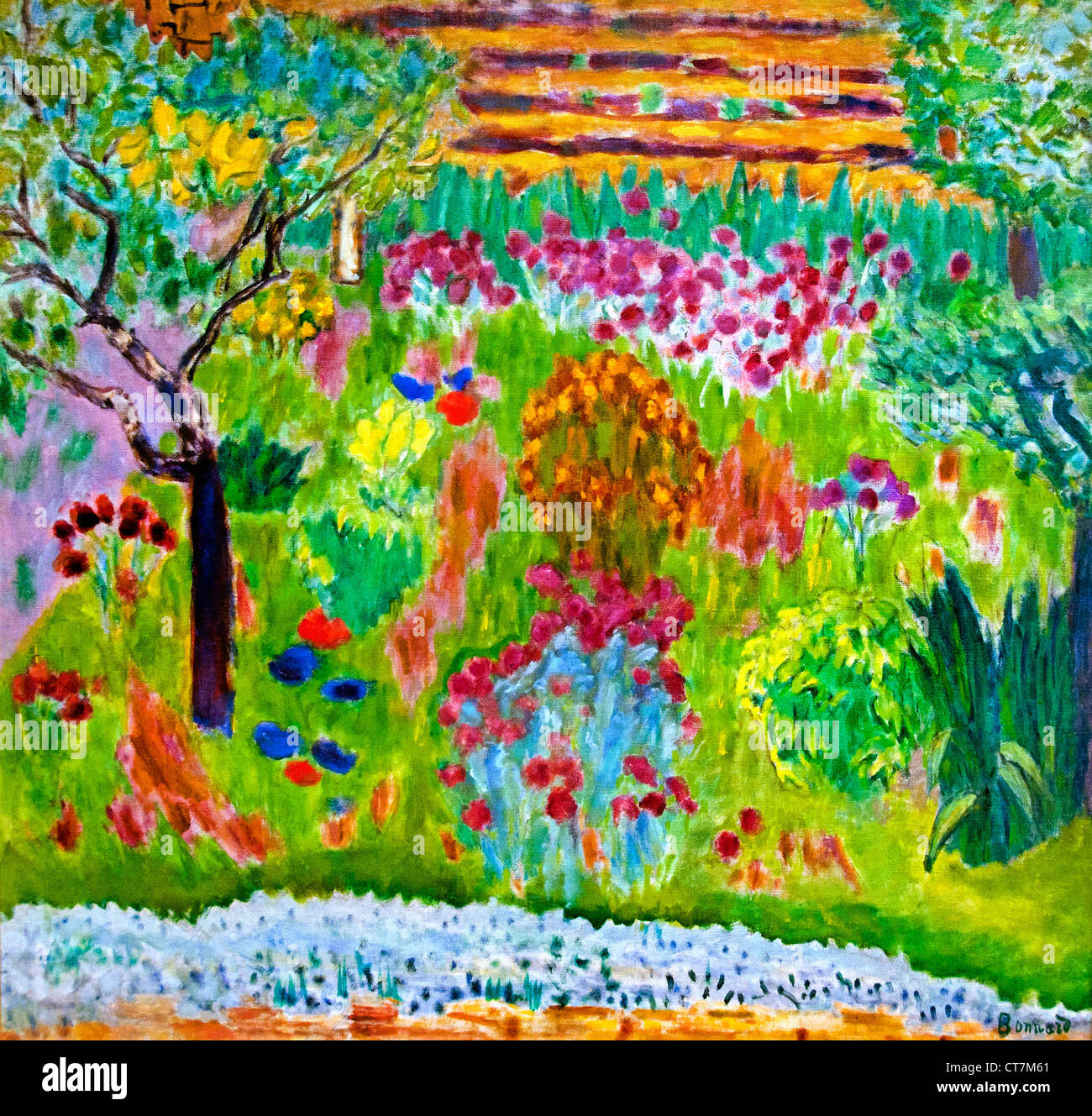 Garden 1935 Pierre Bonnard France French - Stock Image