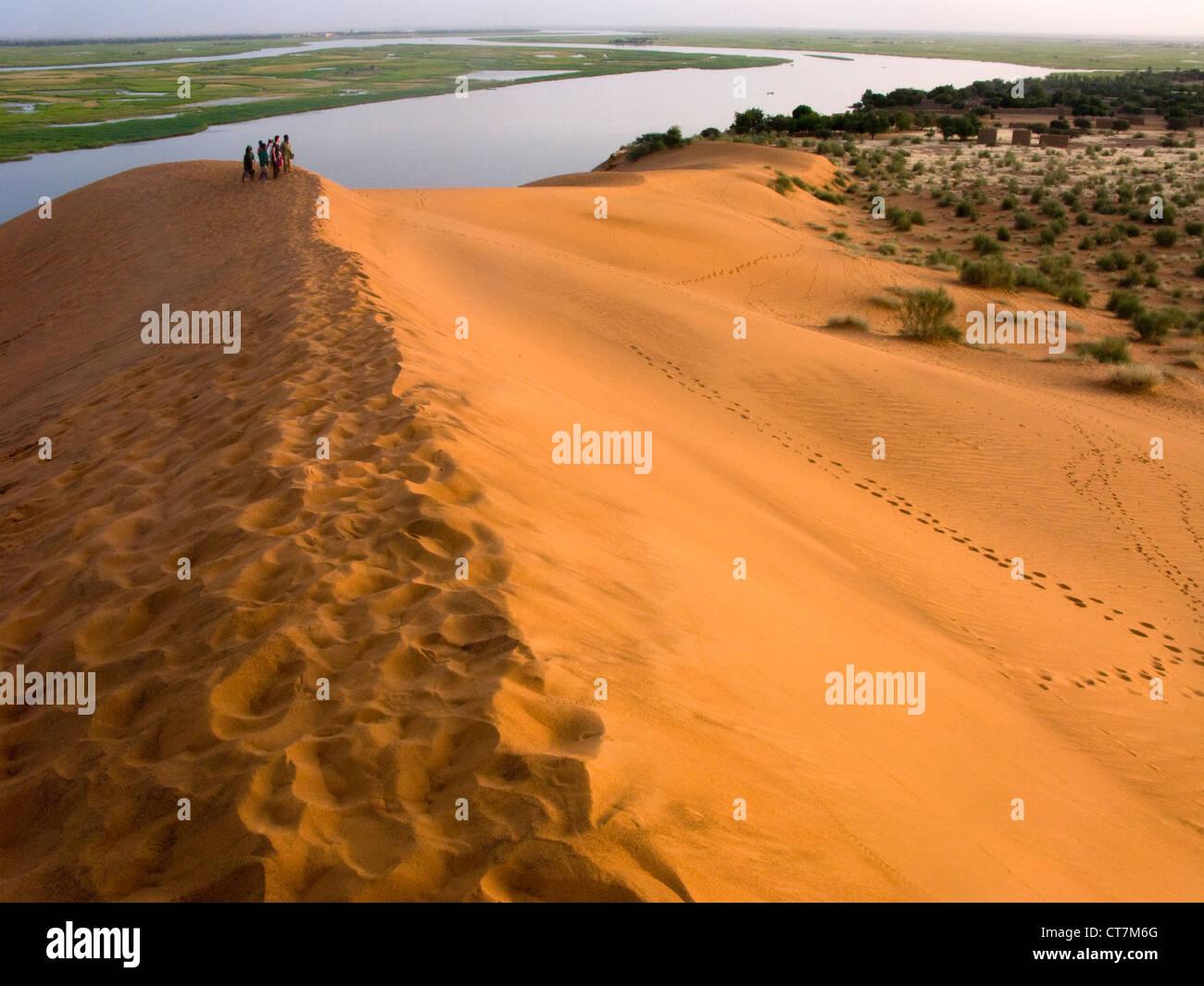 The Dune of Koima ( Dune Rose ) by Niger river, Gao region. Mali .West Africa. - Stock Image