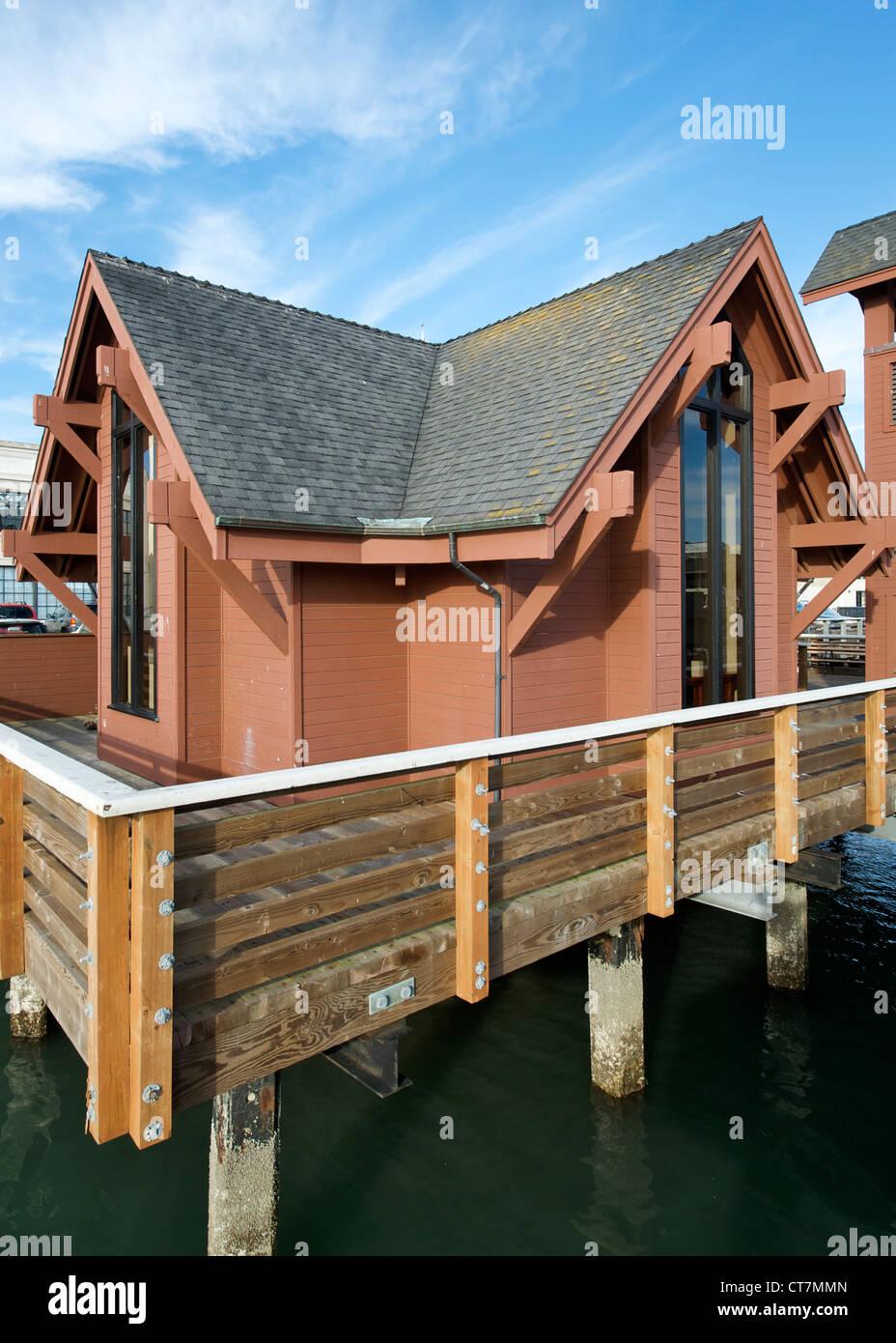 Fishermen's and Seamen's memorial chapel in Fisherman's Wharf in San Francisco, California, USA. - Stock Image