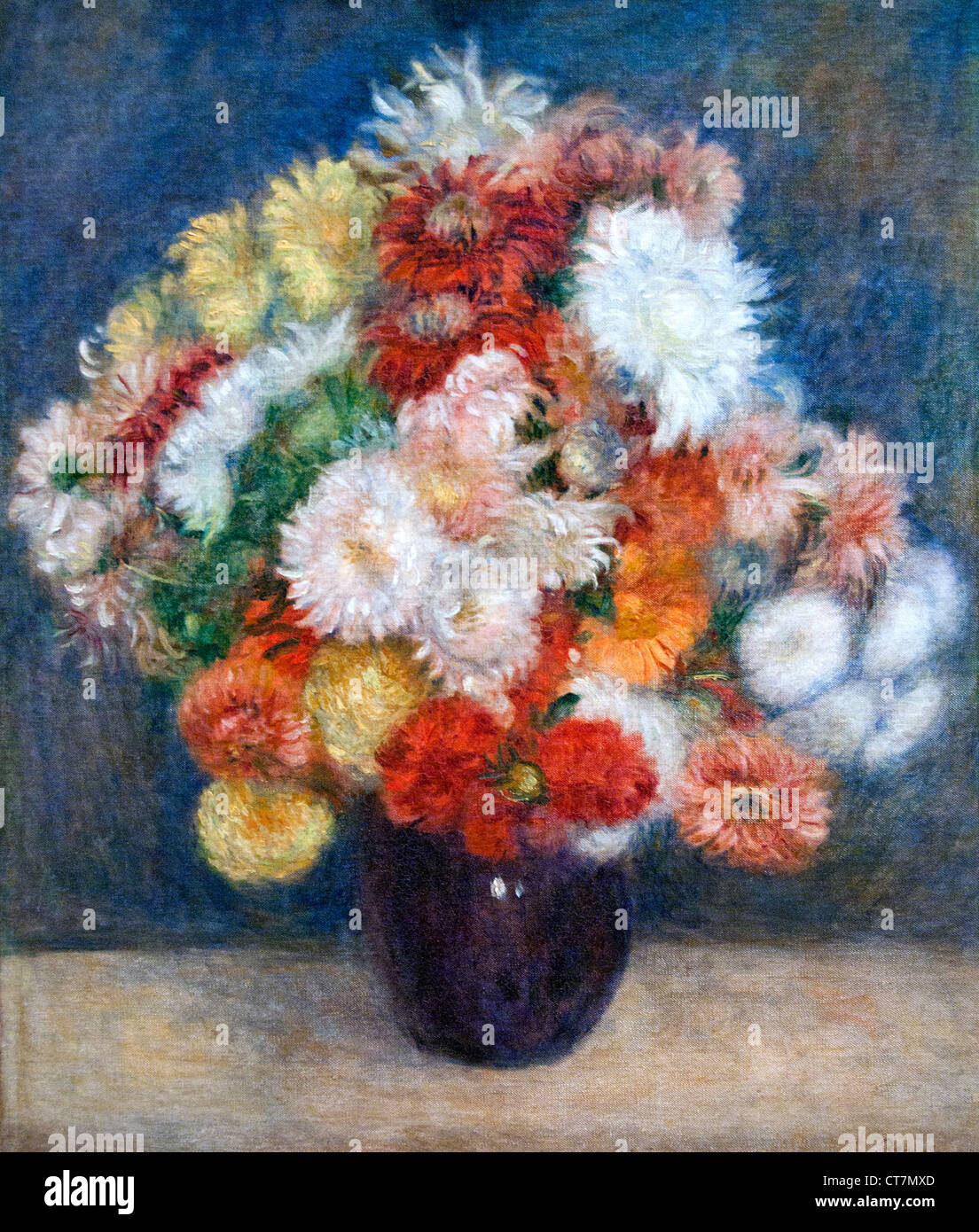 Bouqet - Flowers Pierre Auguste Renoir 1841-1919 French Impressionist France - Stock Image