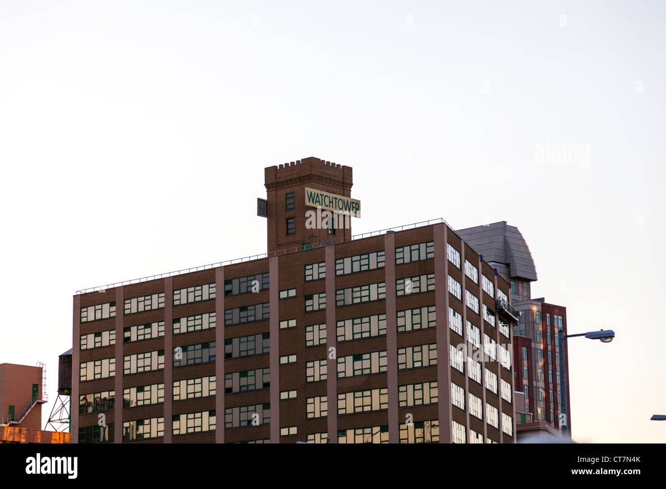 Jehovah's Witness The Watchtower Bible and Tract Society of New York building exterior, Brooklyn - Stock Image