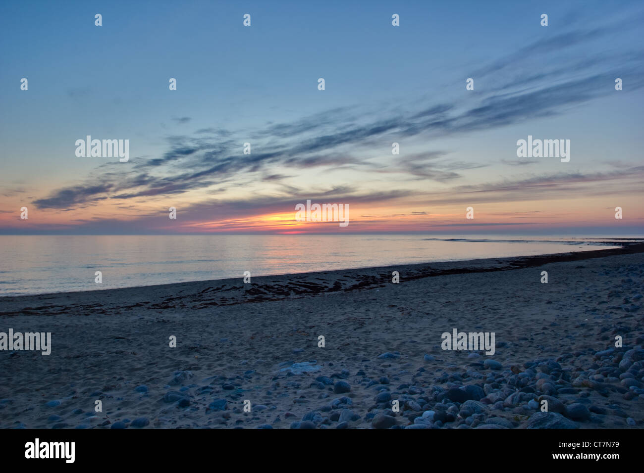 Sunset at Barabhas (Outer Hebrides of Scotland) - Stock Image