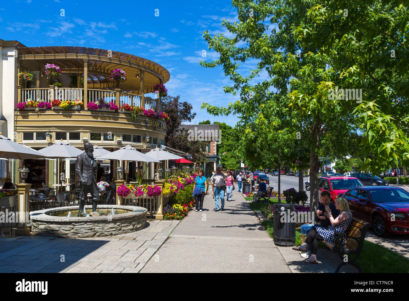 The Shaw Cafe on Queen Street, Niagara-on-the-Lake, Ontario, Canada - Stock Image