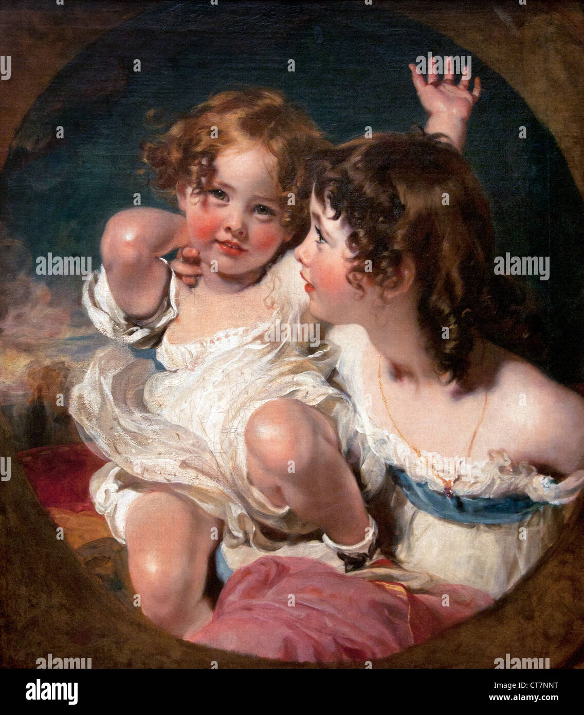 The Calmady Children ( Emily and Laura Anne ) Sir Thomas Lawrence  1769 - 1830 English United Kingdom - Stock Image