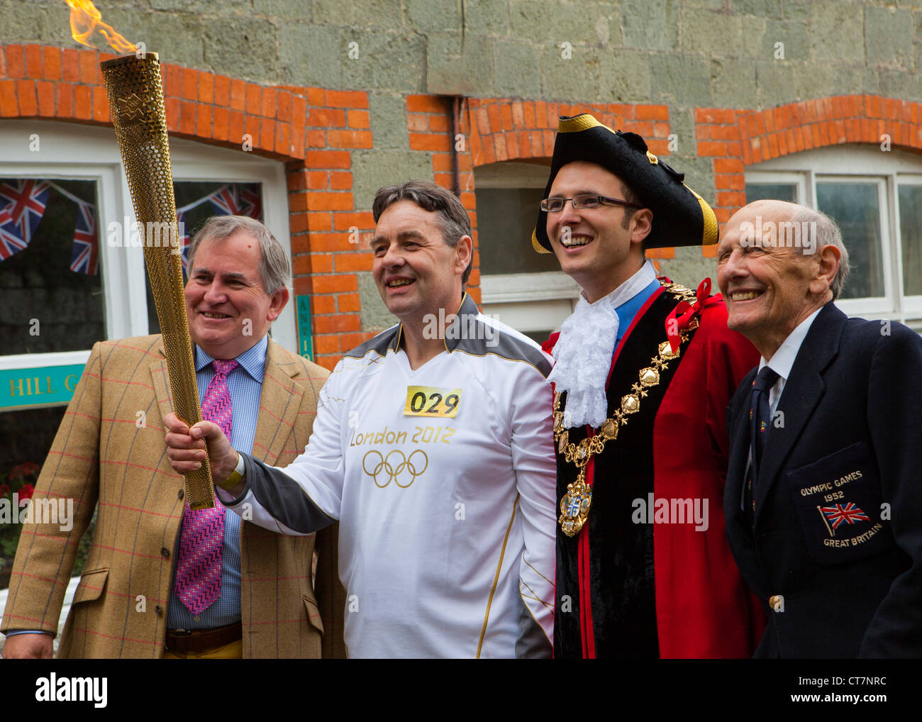 Olympic Torch Relay comes to Shaftesbury Dorset on 12th July 2012. - Stock Image