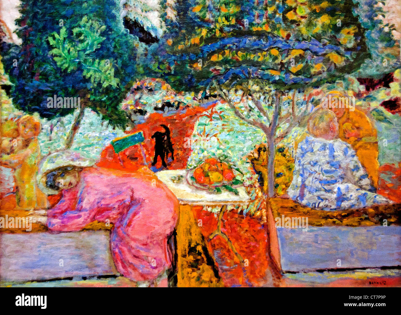 Morning in the Garden 1917 Pierre Bonnard 1867 - 1947 France French - Stock Image