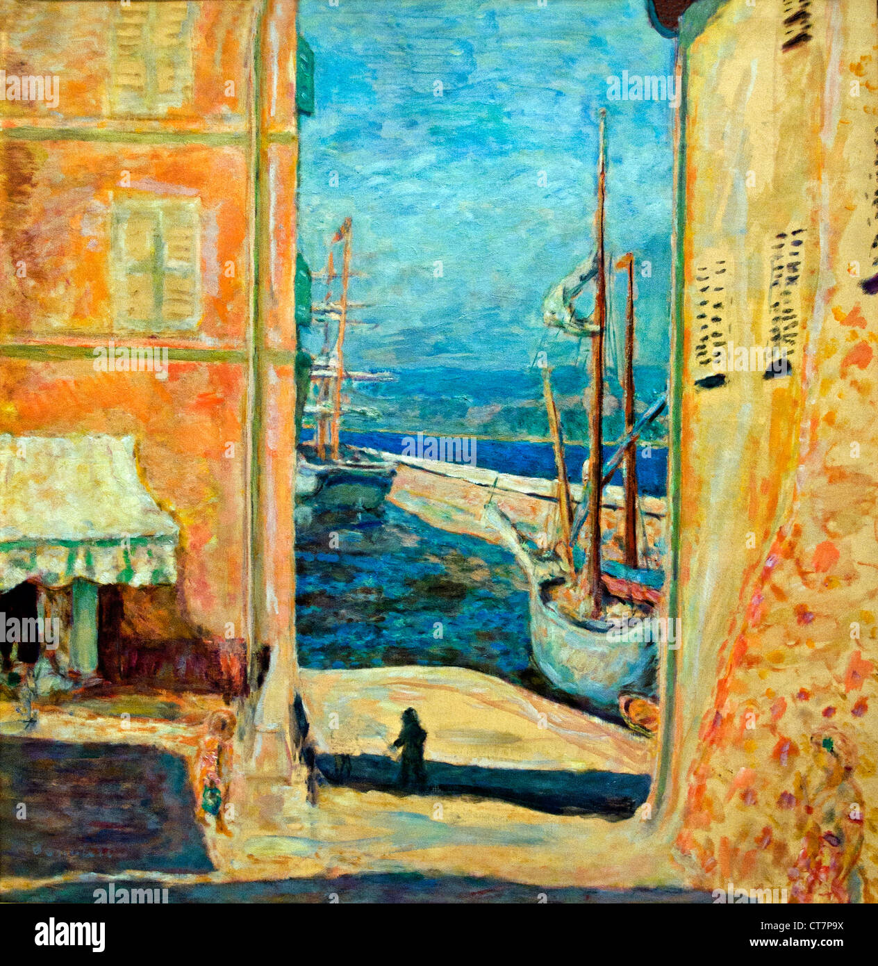 View of The Old Port, Saint-Tropez 1911 Pierre Bonnard 1867 - 1947 France French - Stock Image