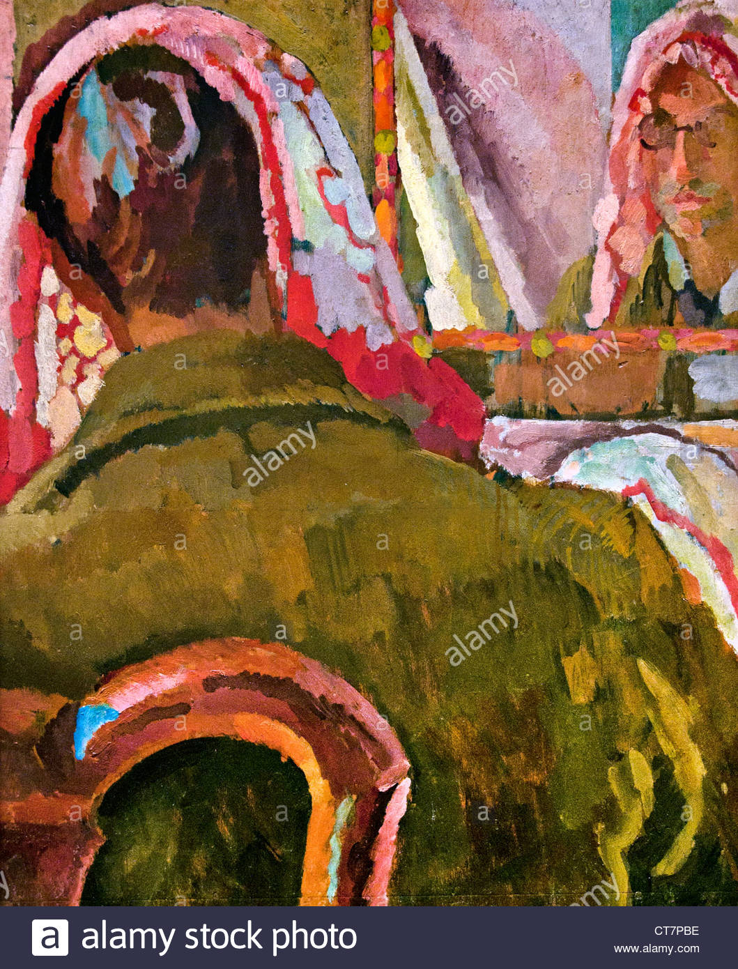 Duncan Grant with a Cold 1918 Vanessa Bell  British united Kingdom - Stock Image