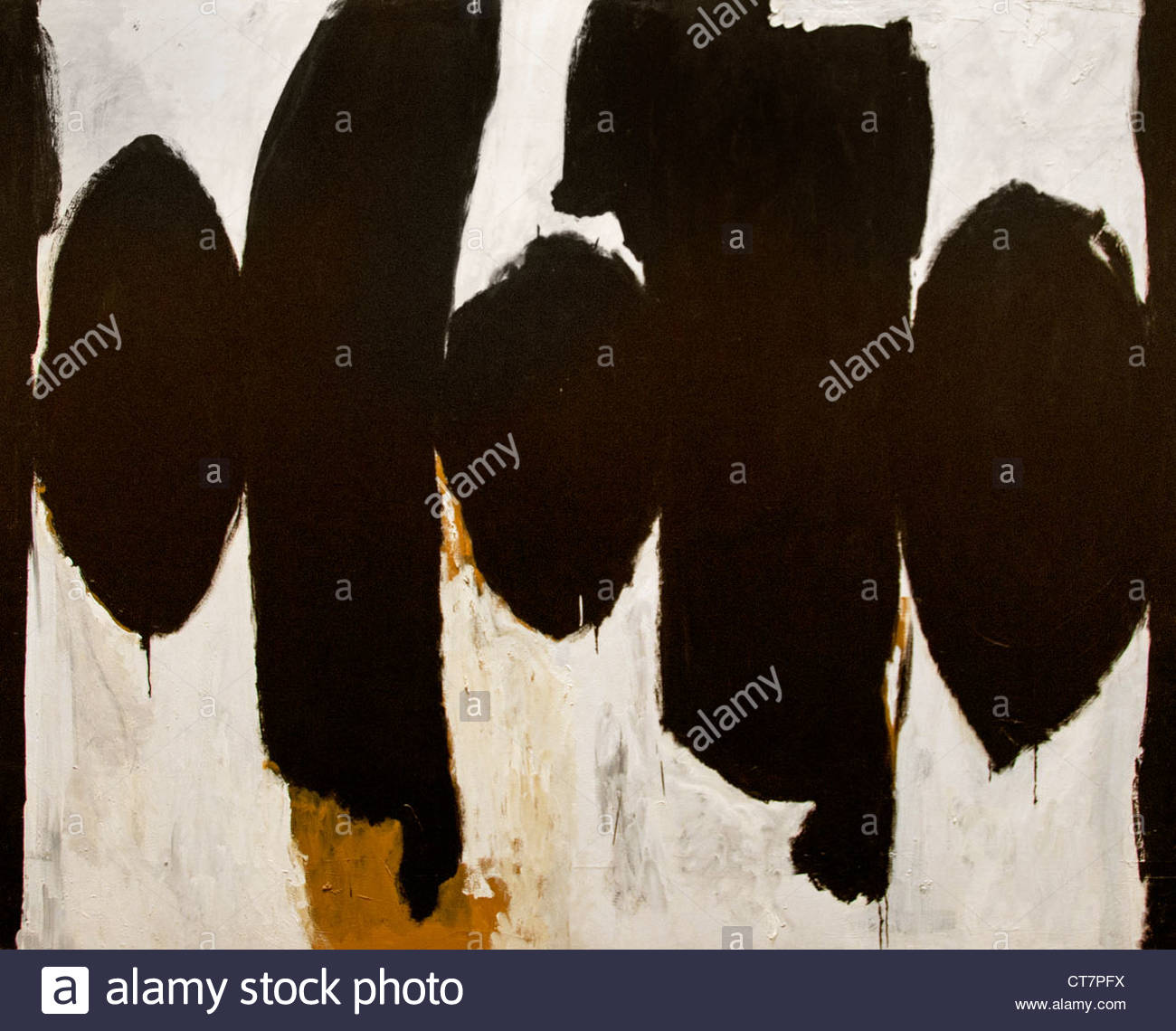 Elegy to the Spanish Republic No 35 1954 Robert Motherwell American United States of America Stock Photo