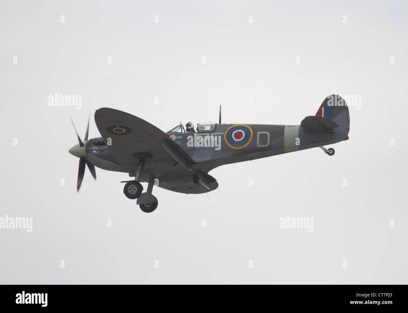 Supermarine Spitfire British single-seat fighter aircraft used by the RAF and many other allied counties in WW2 - Stock Image