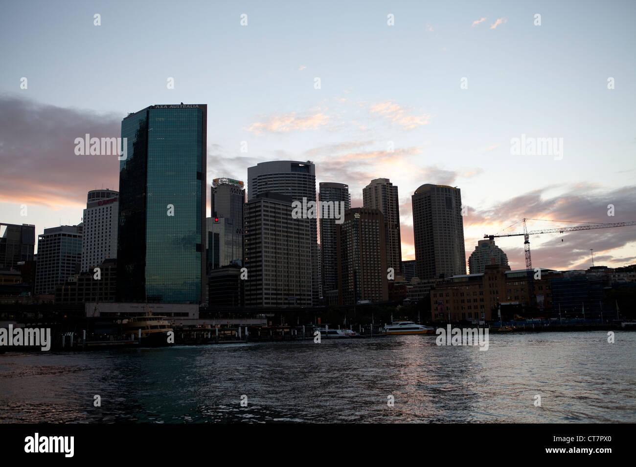 Promenade at Circular Quay, Sydney, Australia - Stock Image
