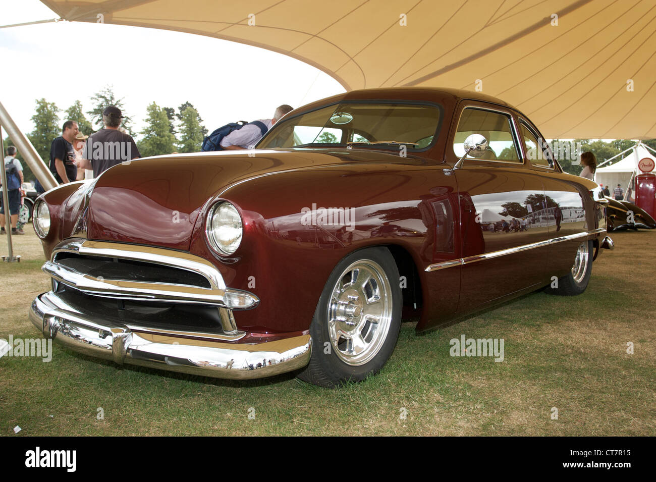 1949 Ford Stock Photos Images Alamy 2 Door Sedan Shoebox Owned By Eric Clapton At Goodwood Festival Of Speed 2010