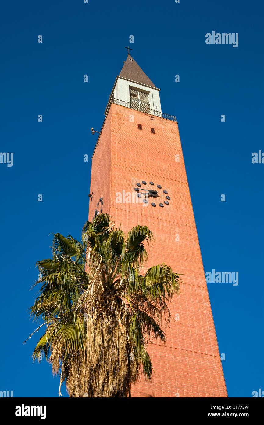 Lookout tower which is the belltower of Catedral Metropolitana - Stock Image
