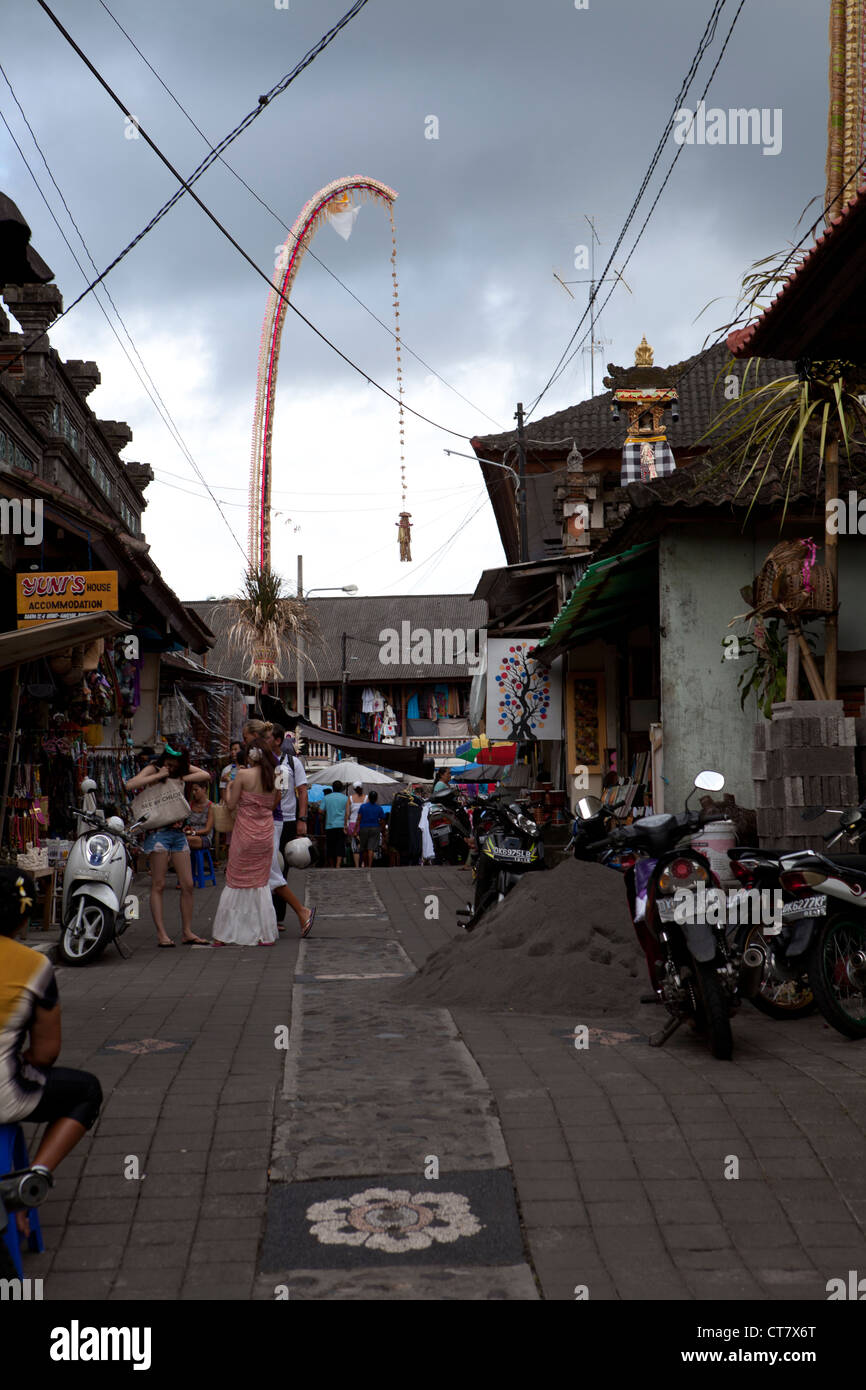 Scenic street view in Ubud, Bali, Indonesia. - Stock Image
