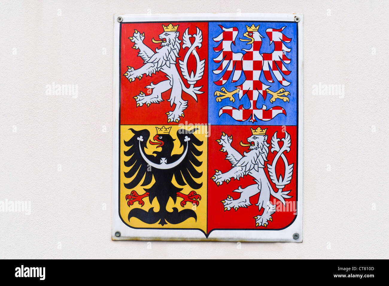 Heraldic symbols of the Czech Republic and Moravia - Stock Image