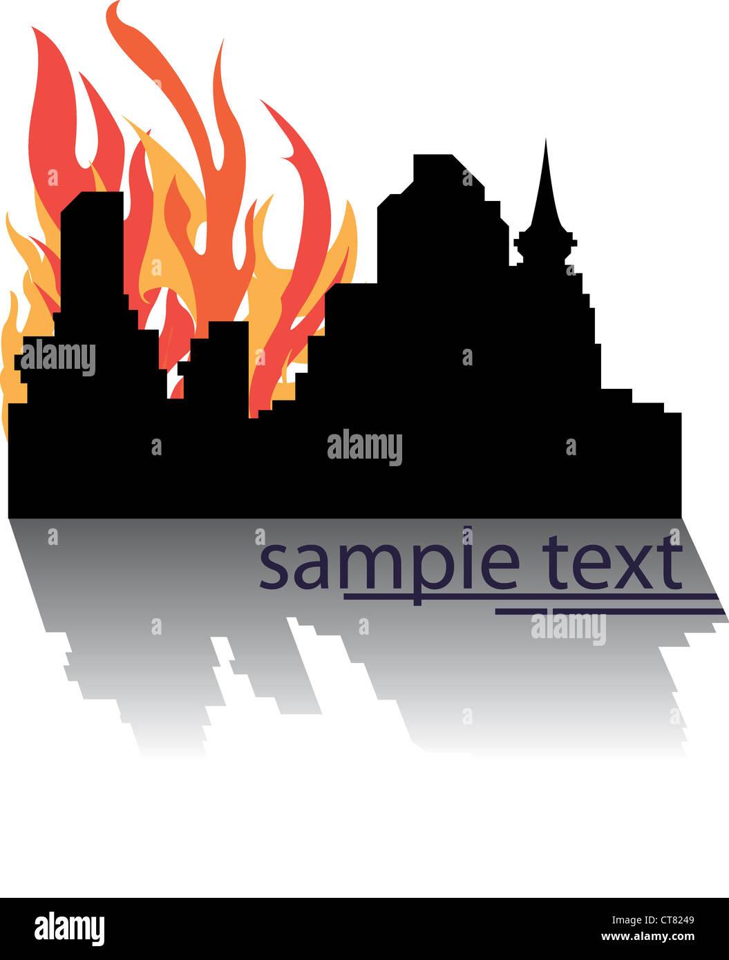 hot cit vector - Stock Image
