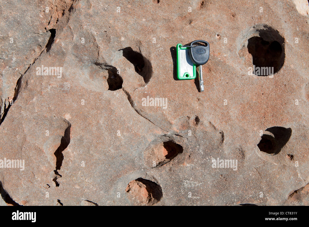 Karst weathering in limestone Stock Photo