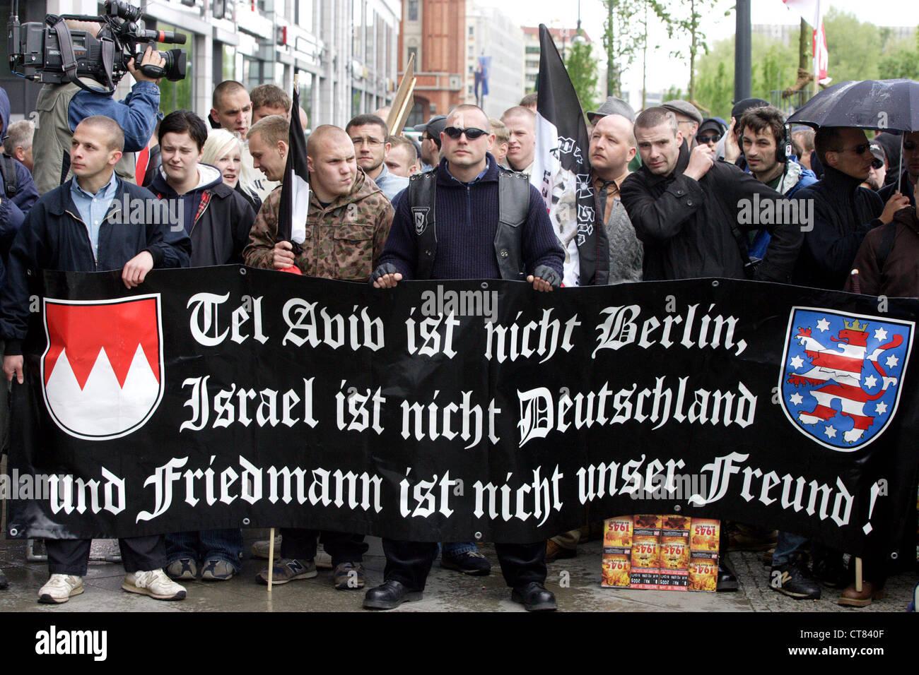NPD rally in Berlin Stock Photo