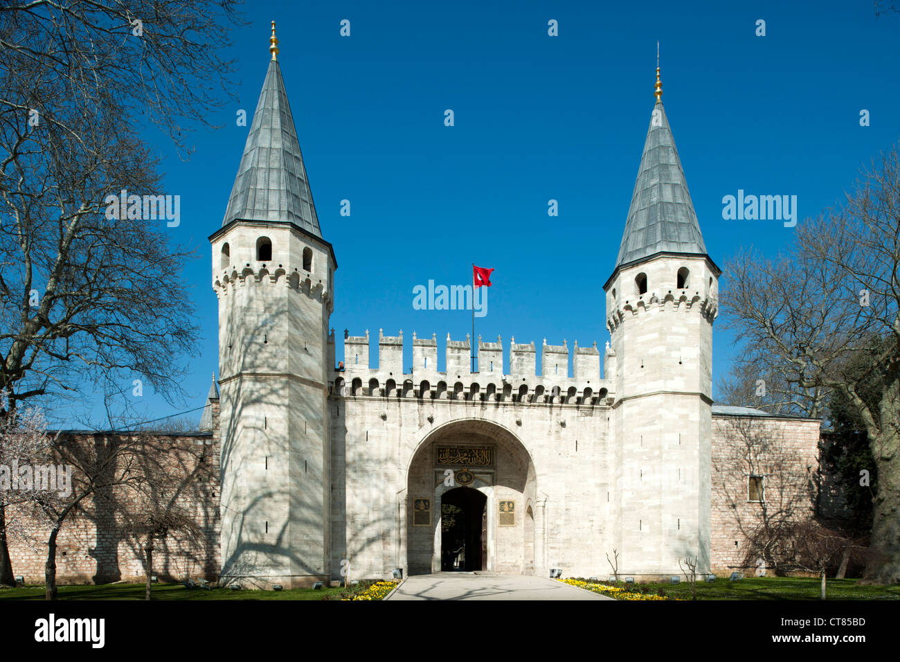 Türkei, Istanbul, Sultanahmet, Topkapi Saray, Bab-üs Selam, The Gate of Salutation, entrance to the Second - Stock Image