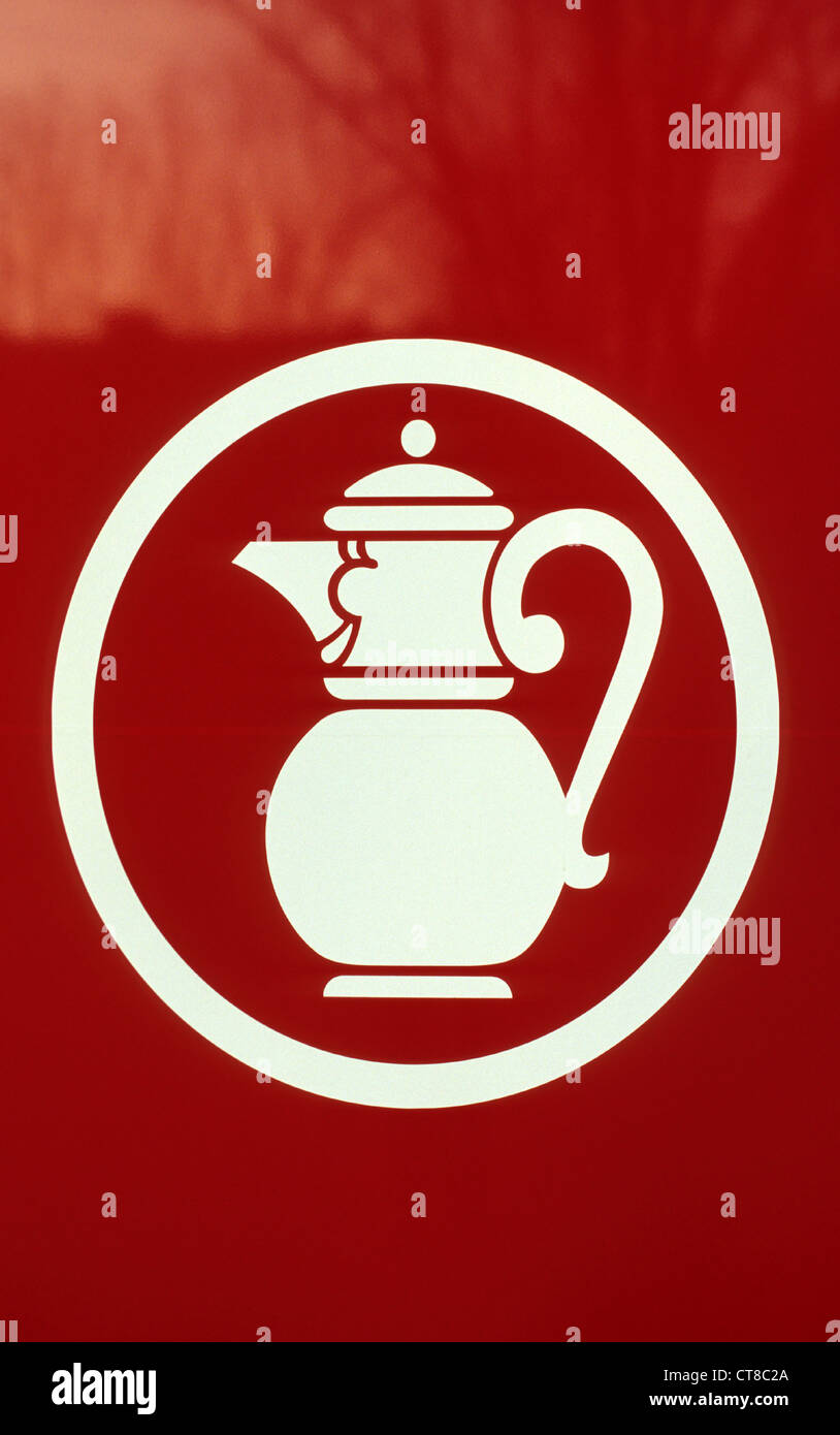 Emblem of the retail chain Kaiser's Tengelmann - Stock Image