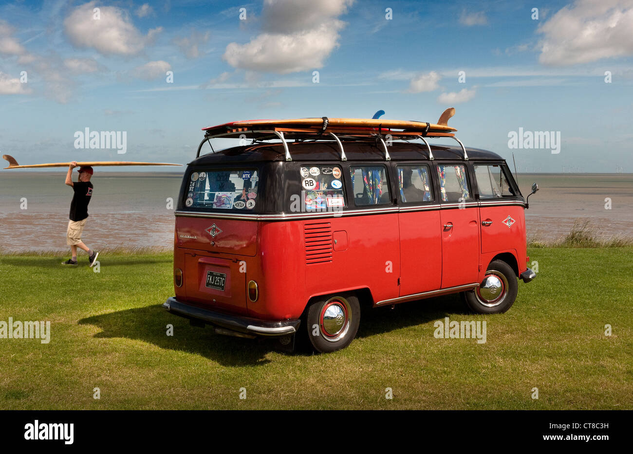 Surfers1965 VW  Micro bus - Stock Image
