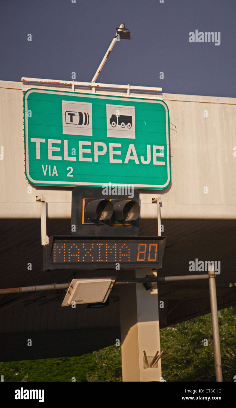 Telepeage (toll point) in Buenos Airies, Argentina - Stock Image