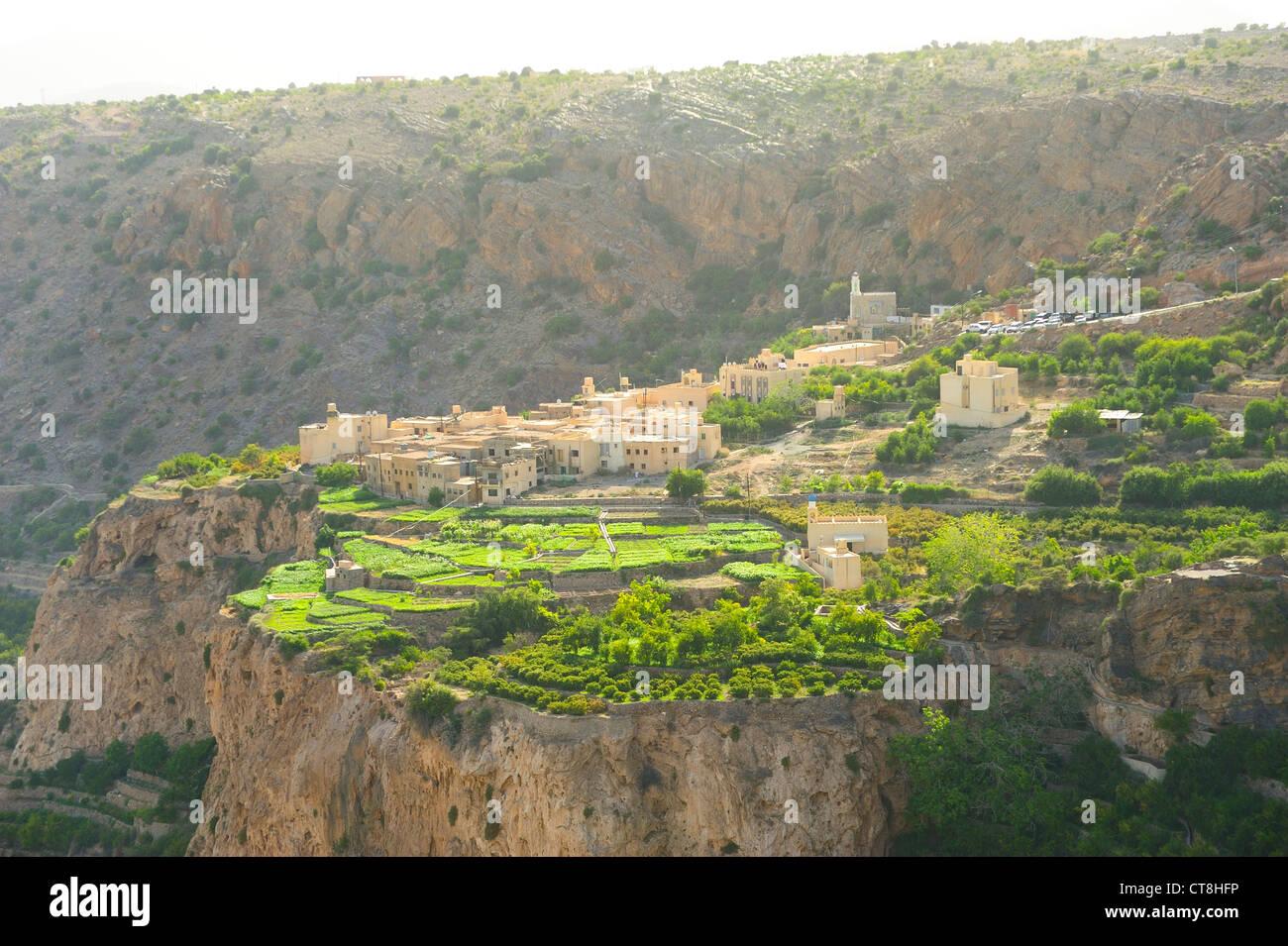 Village of Al Ayn, Sayq Plateau, Western Hajar Mountains, Oman - Stock Image