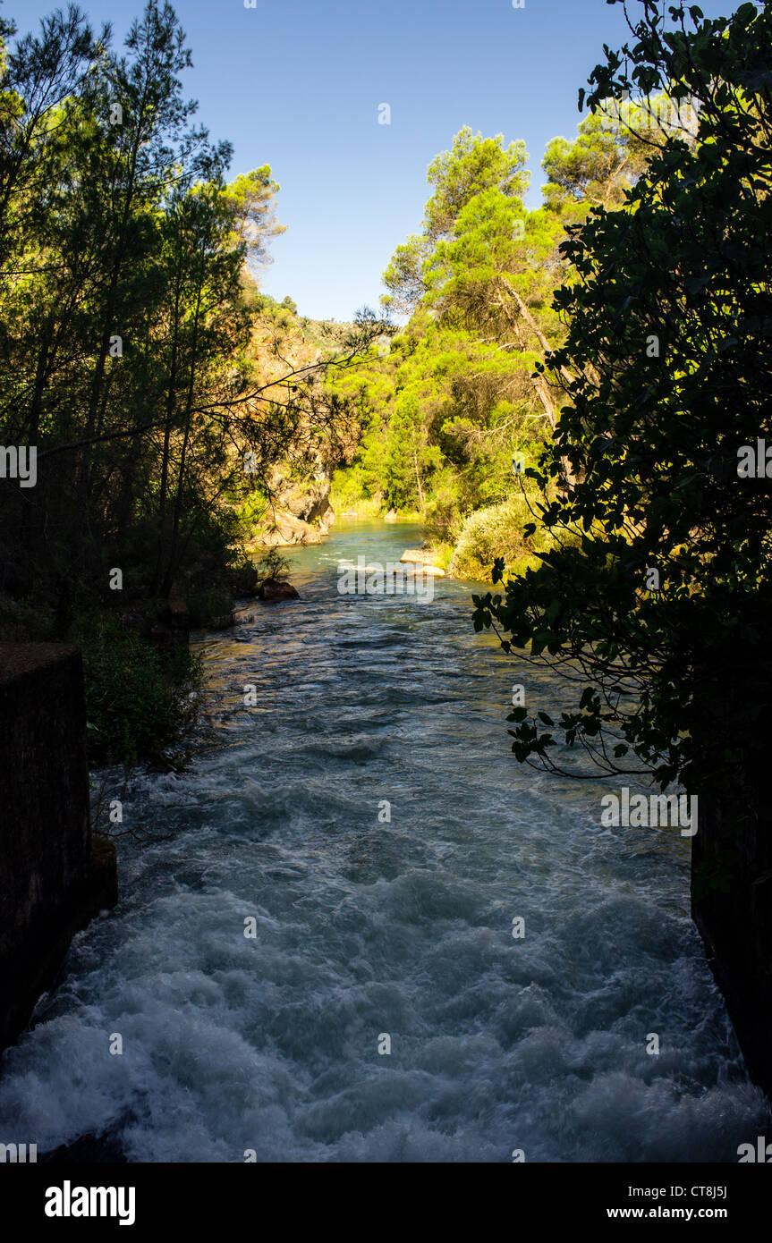 Charco del aceite - a recreation area near Villaneuva del Arzobispo, Jaen, Spain - Stock Image