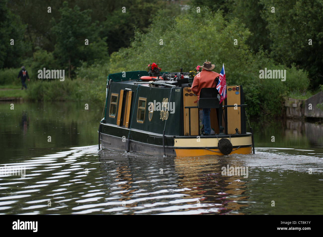 House boat on river - Stock Image