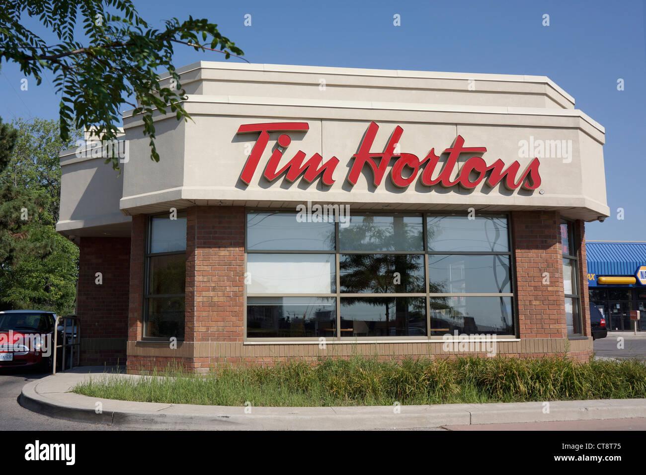 Tim Hortons Restaurant - Stock Image