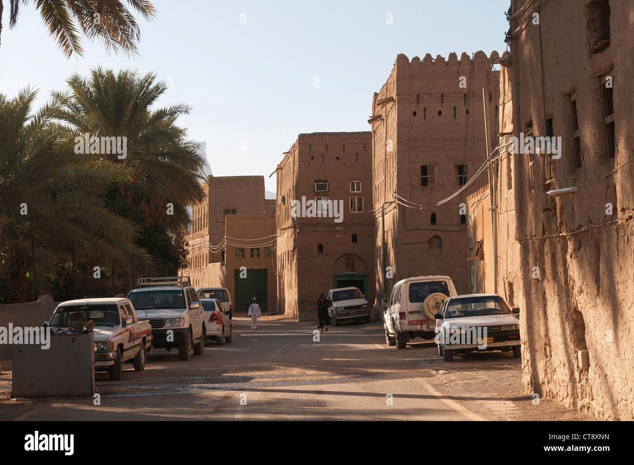 Elk207-2557 Oman, Al Hamra, old town, houses - Stock Image