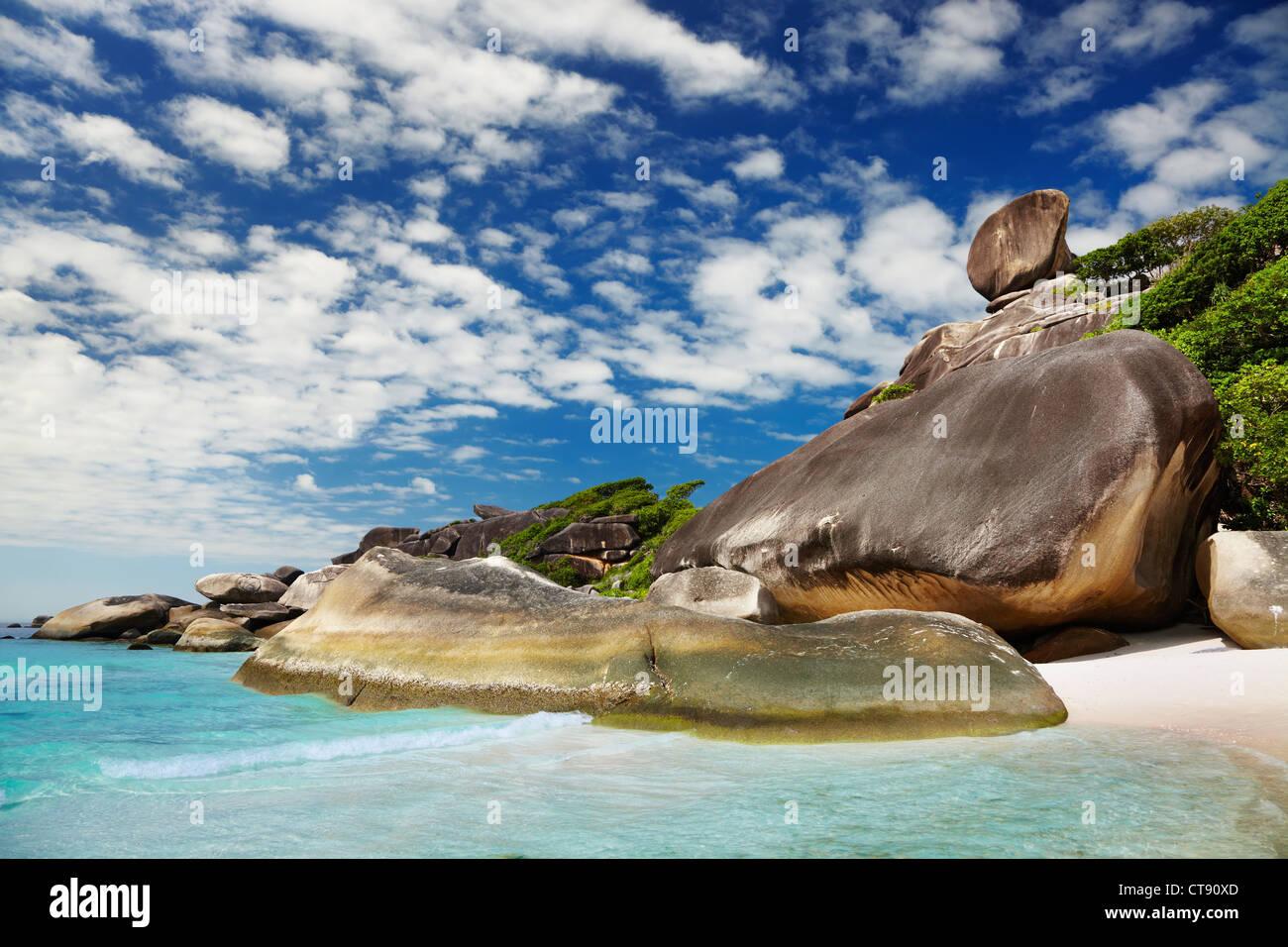 Tropical beach, Similan islands, Andaman Sea, Thailand - Stock Image