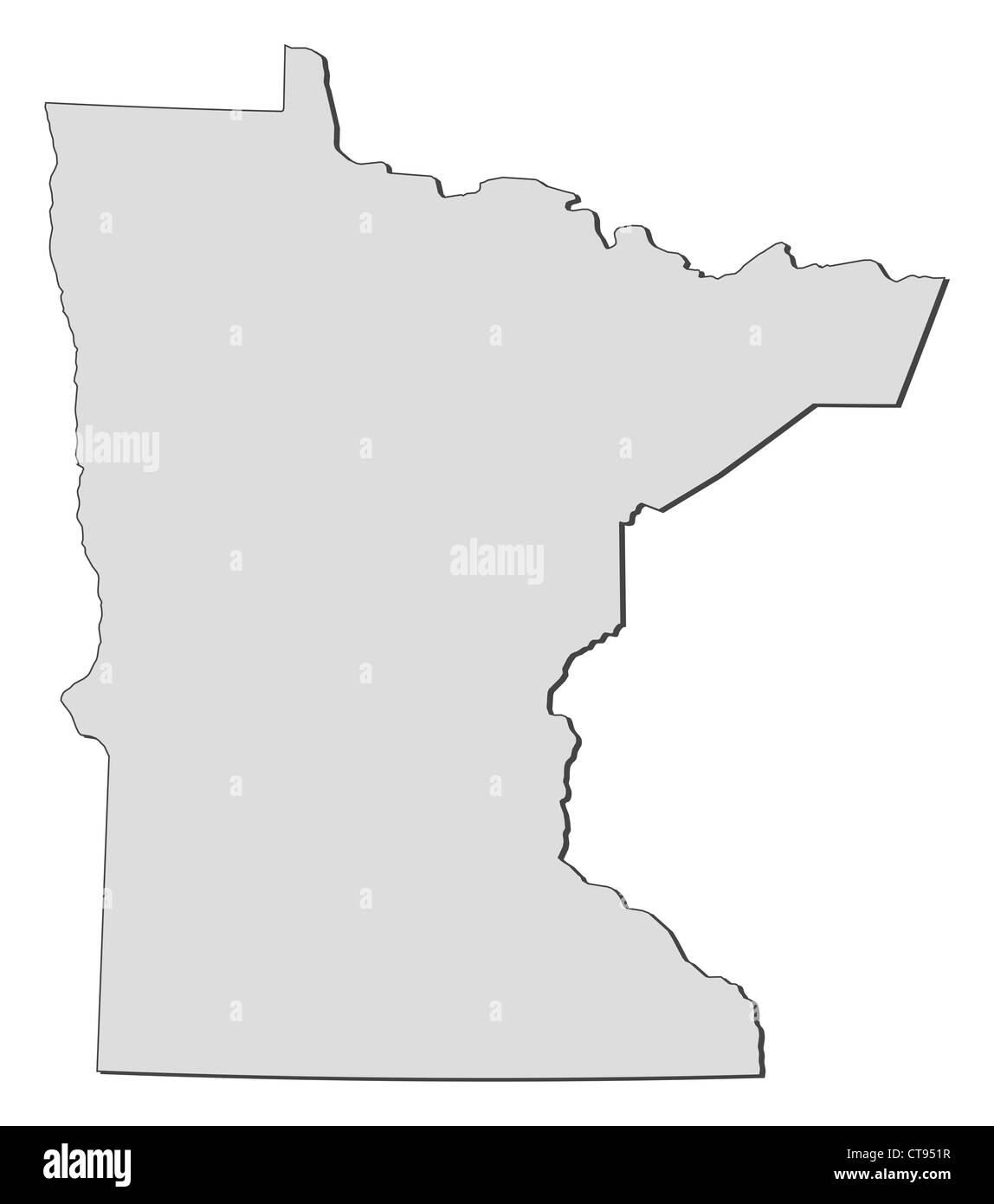 Map of Minnesota, a state of United States Stock Photo ...