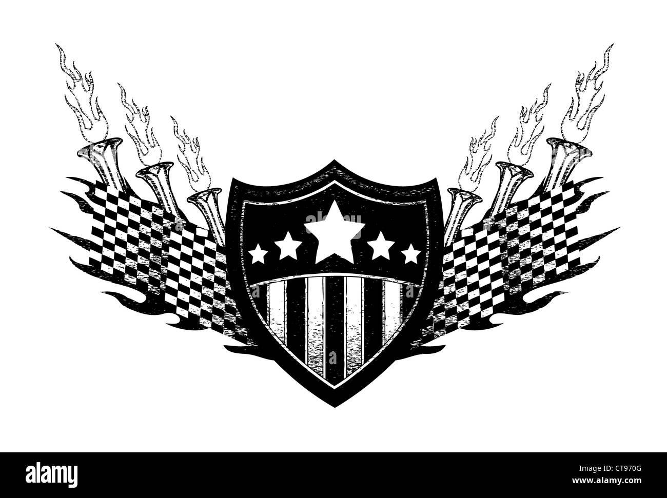 Sports Race T Shirt Design Stock Photo 49375552 Alamy