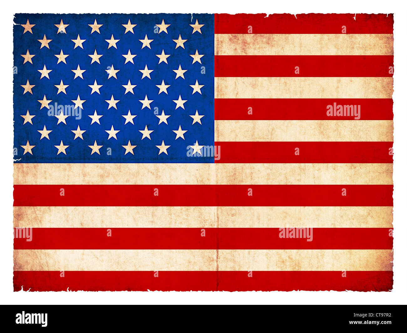 National Flag of USA created in grunge style - Stock Image