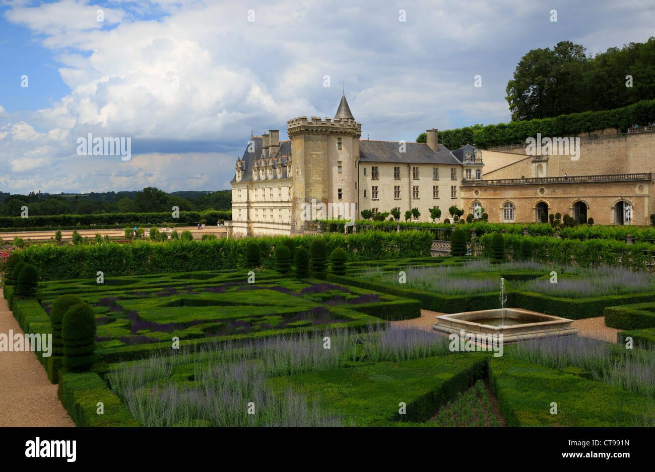 ornamental garden chateau de villandry stock photos. Black Bedroom Furniture Sets. Home Design Ideas